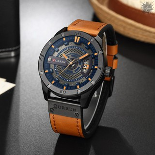 Đồng hồ đeo tay CURREN dây da thời trang sang trọng cho nam