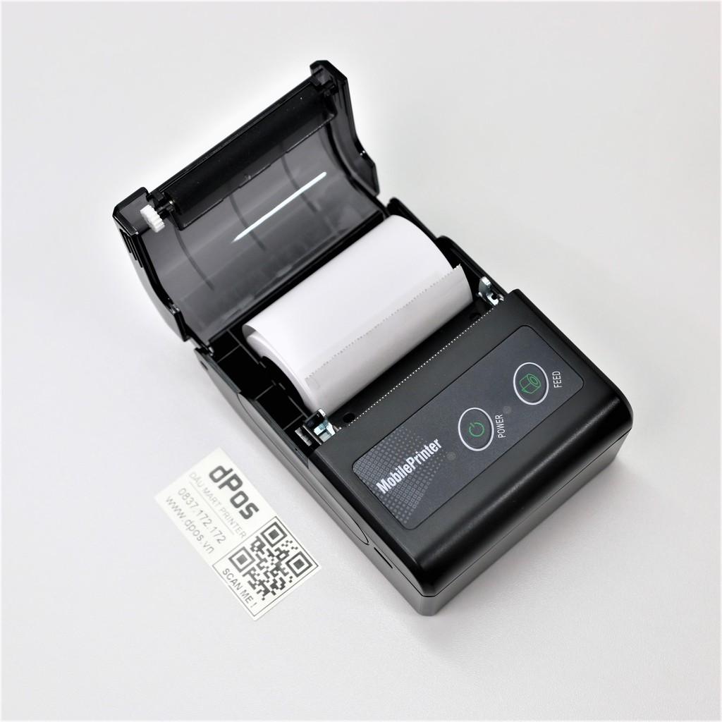 Máy in hóa đơn bluetooth dPos DM01 in bill từ ứng dụng Viettelpay pro, KiotViet, Sapo, Loyverse, GoViet, BeaMin