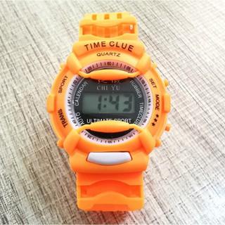 DH Đồng hồ điện tử trẻ em giới tính TIME CLUE dây cao su cực đẹp 8 F810