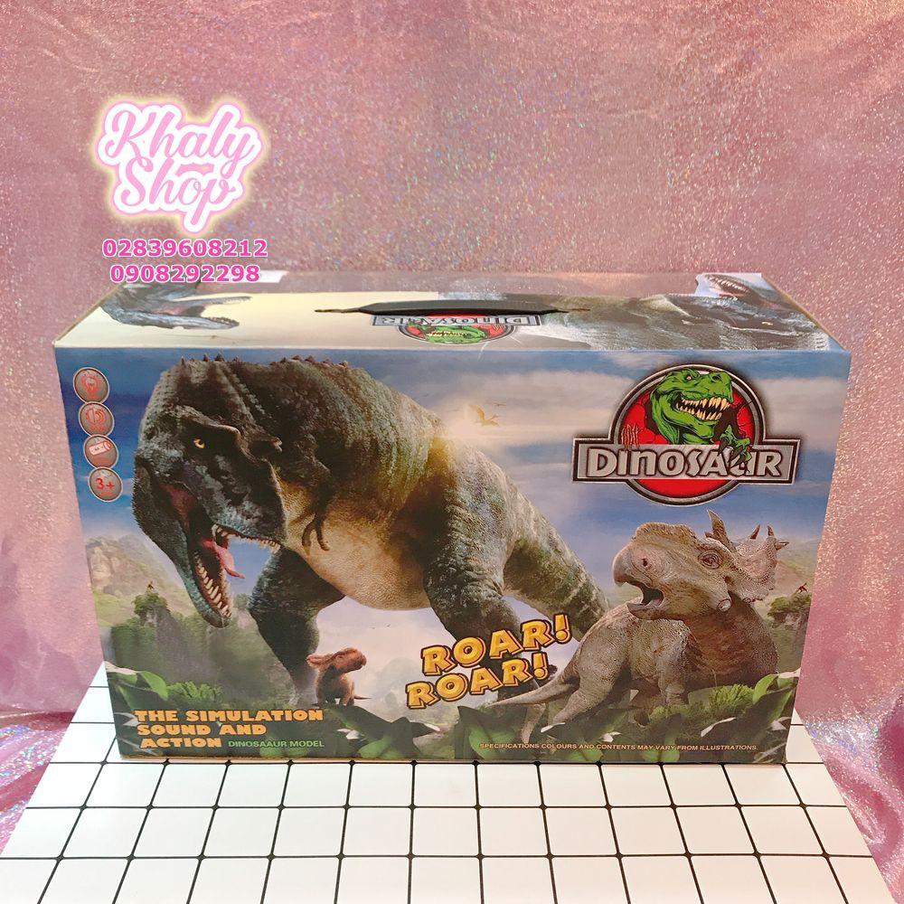Đồ chơi mô hình khủng long lớn có cánh có đèn và nhạc di chuyển màu xanh cho bé -...