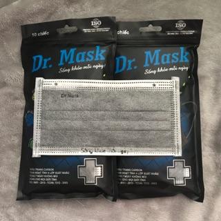 [Bịch 10 cái] KT Than Hoạt Tính Dr.mask 4 lớp