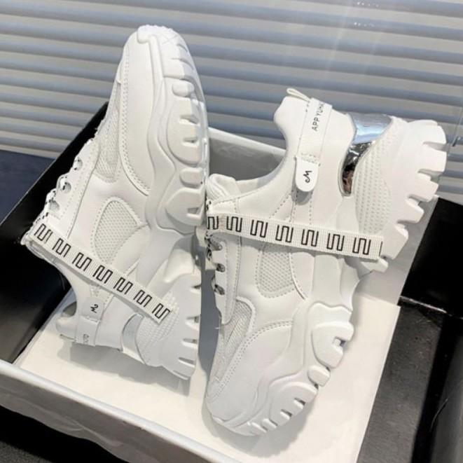 Giày thể thao độn đế gót nạm viền mới thu đông 2020_hàng về