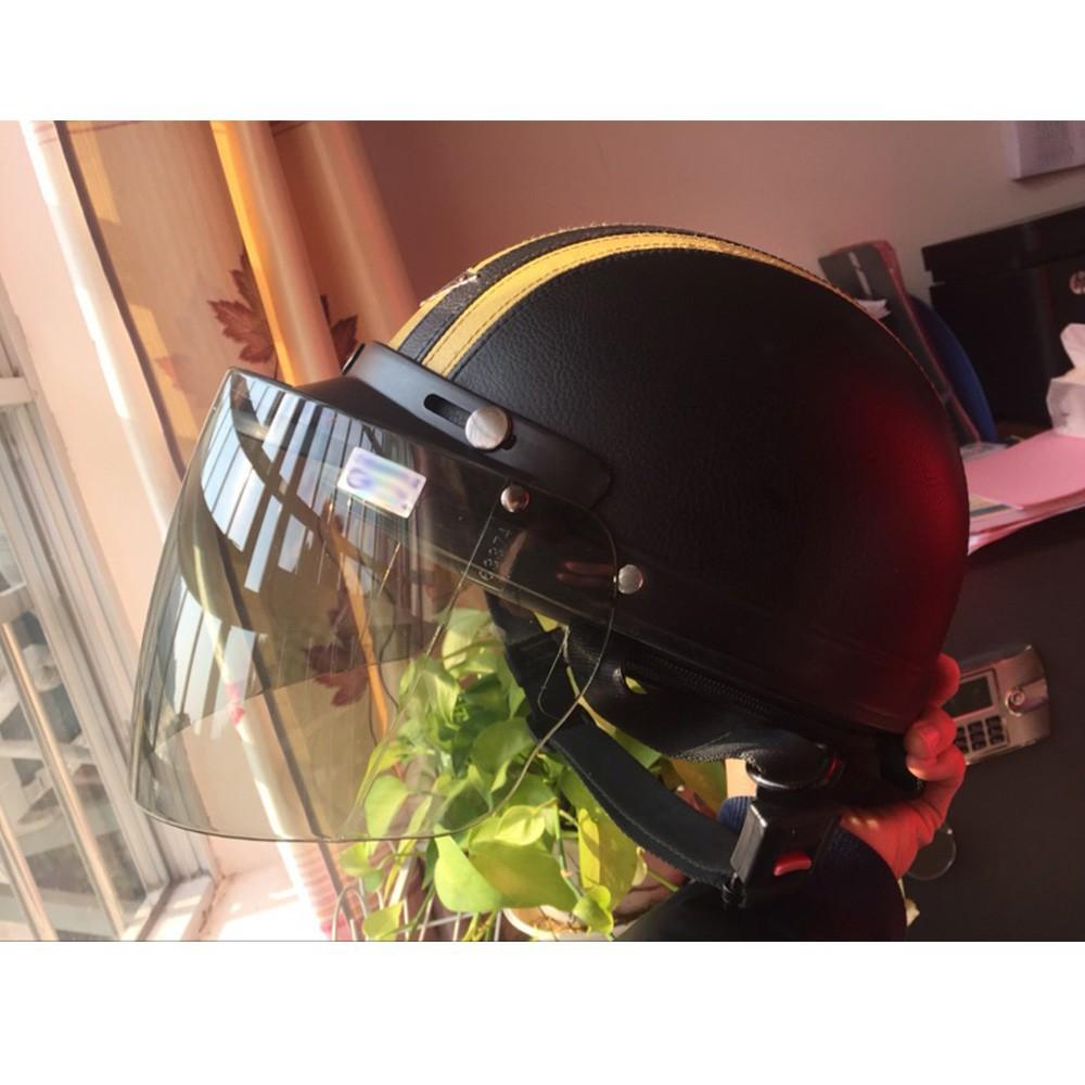 Kính gắn mũ bảo hiểm cổ điển cho người đi xe máy