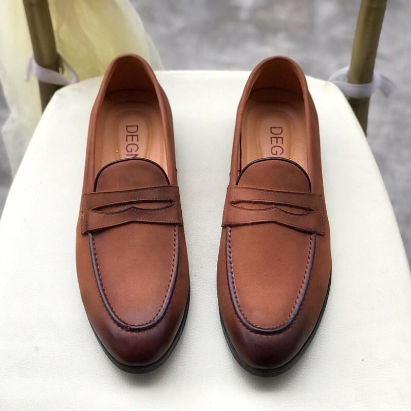 Giày tây thủ công patina,thuộc Da - Bảo hành 12 tháng ( Mã GT70 - Tặng kèm lót D)