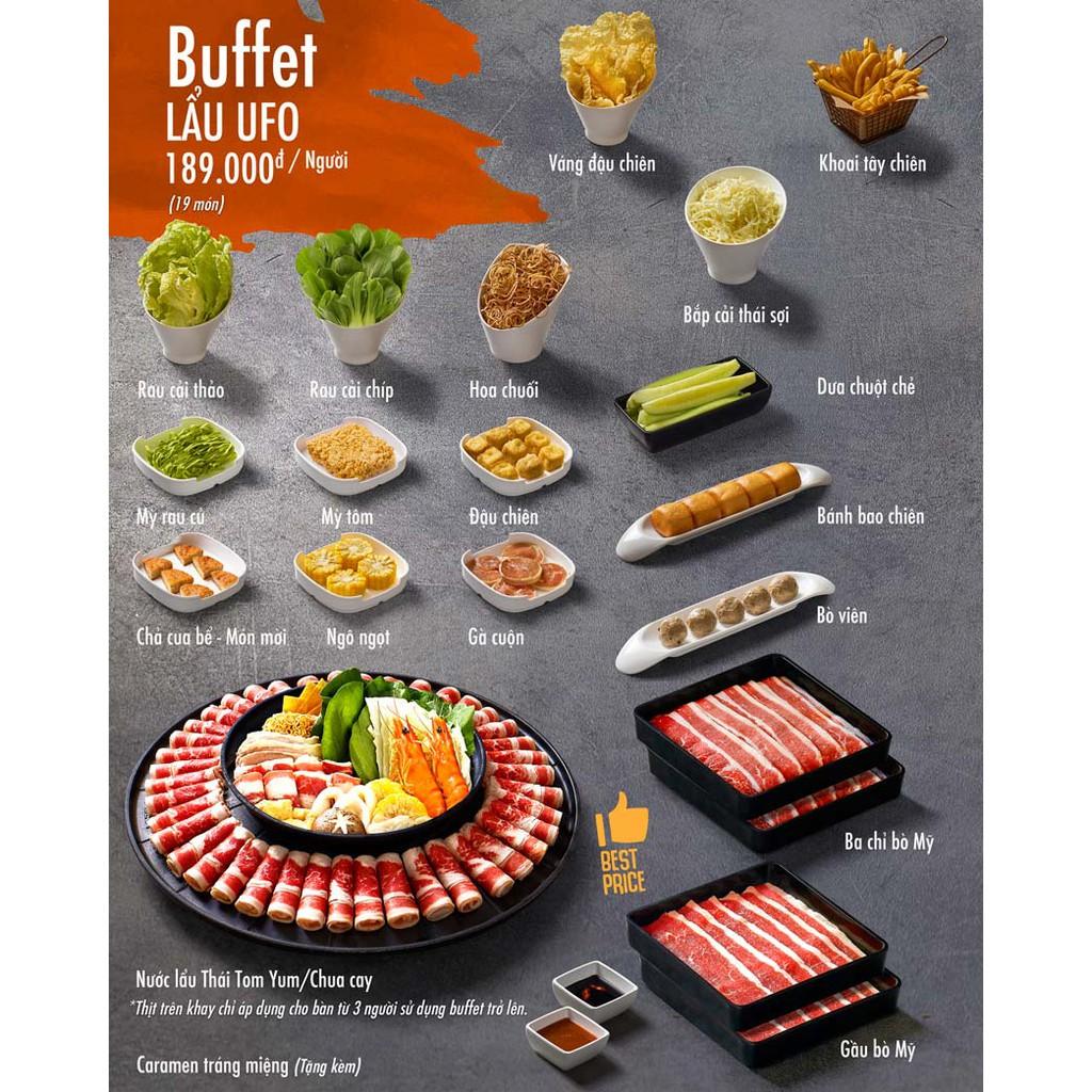 Toàn Quốc [E-Voucher] 01 code Buffet Lẩu trên đĩa bay khổng lồ Nhà hàng Food House áp dụng toàn quốc