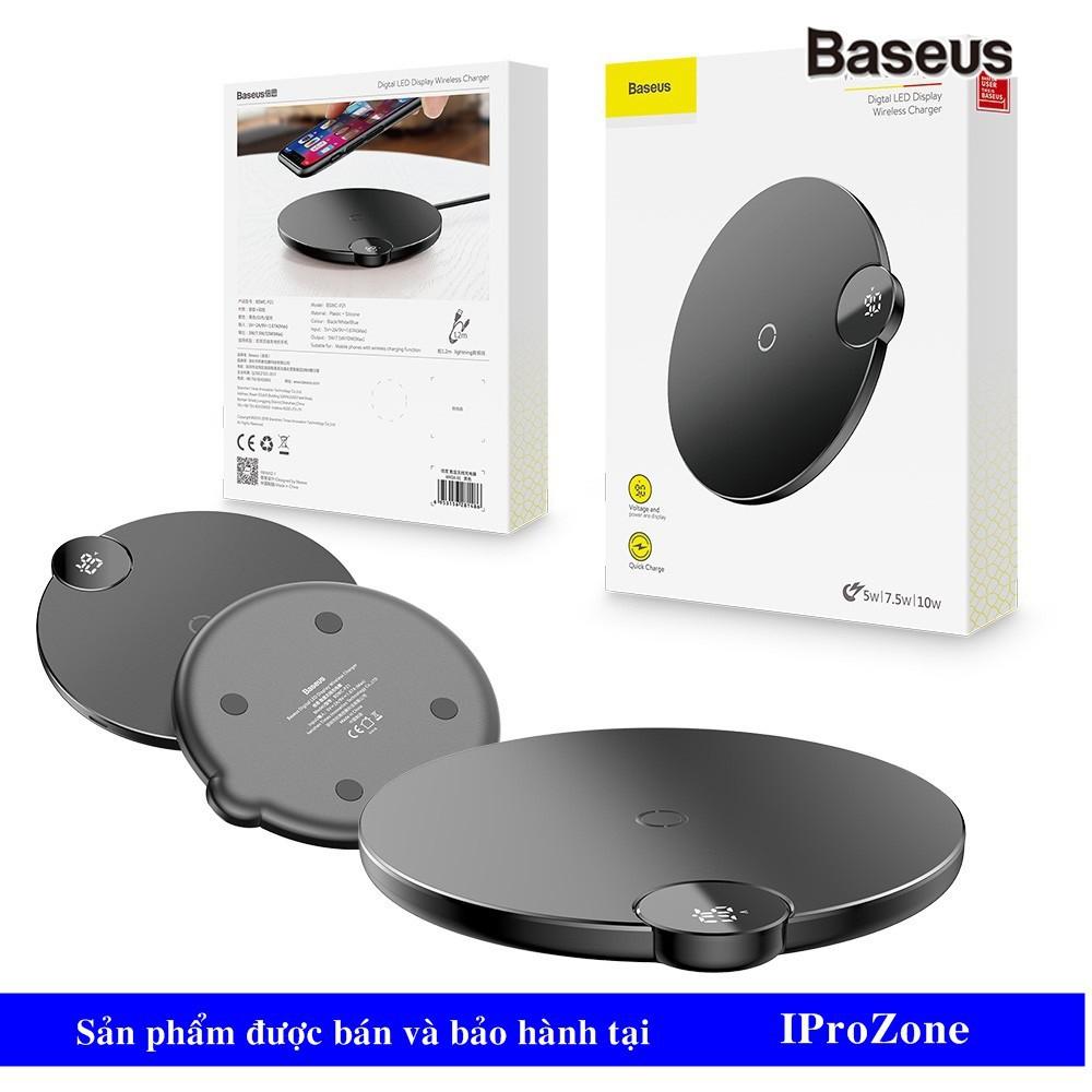 (Đế )Dock sạc nhanh không dây đèn LED hiển thị dòng chính hãng Baseus Digital LED