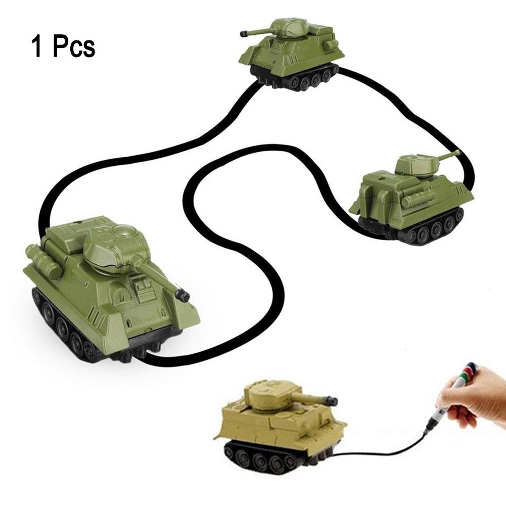 Magic Follow Any Drawn Line Pen Inductive Toy Car Truck Bus Tank Model Gifts