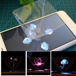 Dụng cụ chiếu Video hình kim tự tháp 3D gắn điện thoại