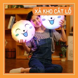 ((Xả Hết) Gối tròng hình mặt cười có đèn (4 màu)–7699 (Xả Kho Cắt Lỗ)