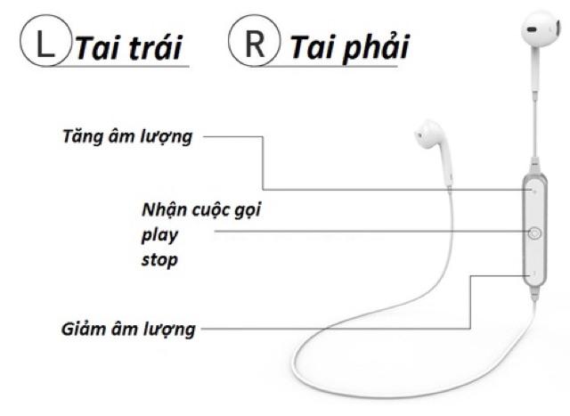 TAI NGHE BLUETOOTH SPORTS S6  nghe 2 bên cực bass (6.6)