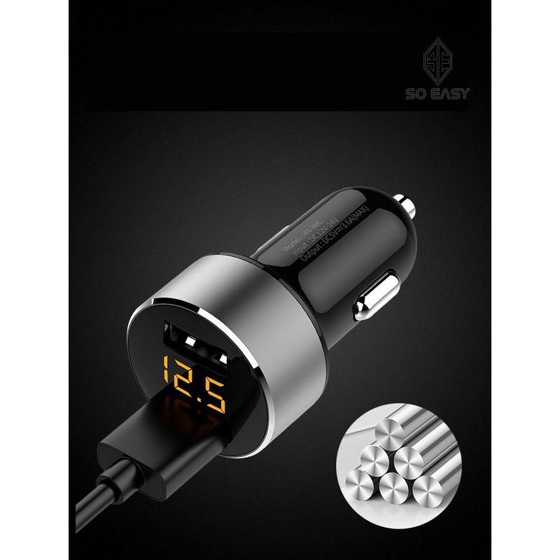 Củ sạc, dock , tẩu , đốc đa năng cho xe hơi, xe ôtô sạc nhanh, 2 cổng USB màn hình LED hiển thị điện áp_EL029(Đen) - 22843869 , 1660230589 , 322_1660230589 , 199000 , Cu-sac-dock-tau-doc-da-nang-cho-xe-hoi-xe-oto-sac-nhanh-2-cong-USB-man-hinh-LED-hien-thi-dien-ap_EL029Den-322_1660230589 , shopee.vn , Củ sạc, dock , tẩu , đốc đa năng cho xe hơi, xe ôtô sạc nhanh, 2