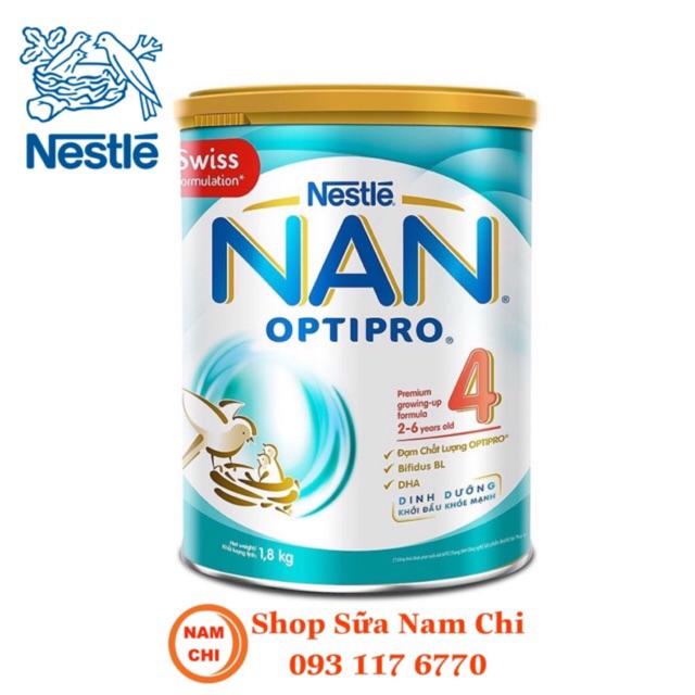 [DATE 02/2021] Sữa Bột Nestle NAN OPTIPRO 4 1.8kg Cho Trẻ Từ 2-6 Tuổi