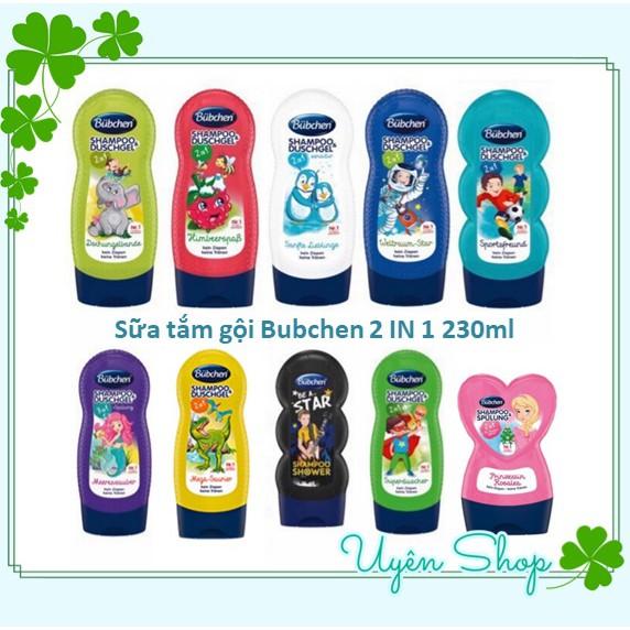 [Mã 267FMCGSALE giảm 8% đơn 500K] Sữa tắm gội cho bé Bubchen số 1 tại Đức, 230ml