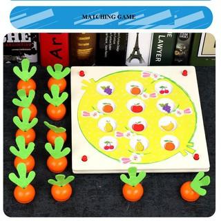 Trò chơi tìm hình giống nhau hình cà rốt- matching game_SocNhi
