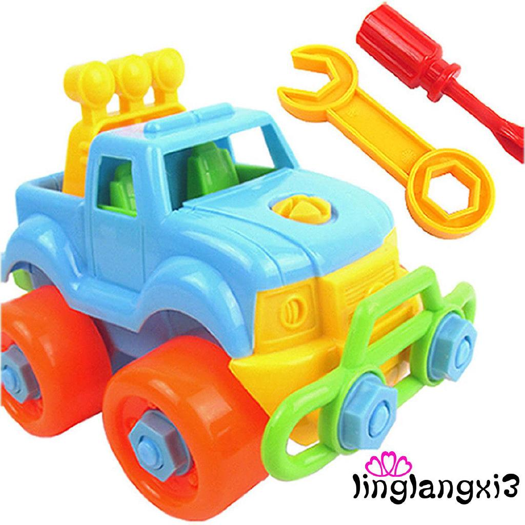3VN-NEW DIY Christmas Gift Kids Child Baby Boy Disassembly Assembly Classic Car