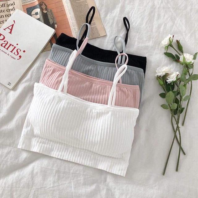 Áo bra quây Áo ống 2 dây, áo lót học sinh rẻ đẹp nhiều màu trắng màu da màu hồng màu đen