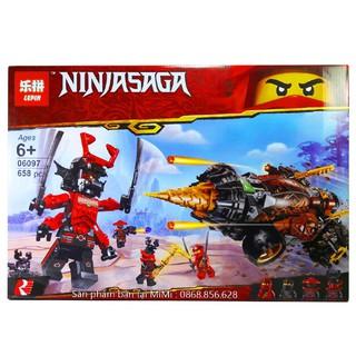 Bộ Lego Xếp Hình Ninjago Siêu Xe Chiến Đấu. Gồm 658 chi tiết. Lego Ninjago Lắp Ráp Đồ Chơi Cho Bé.