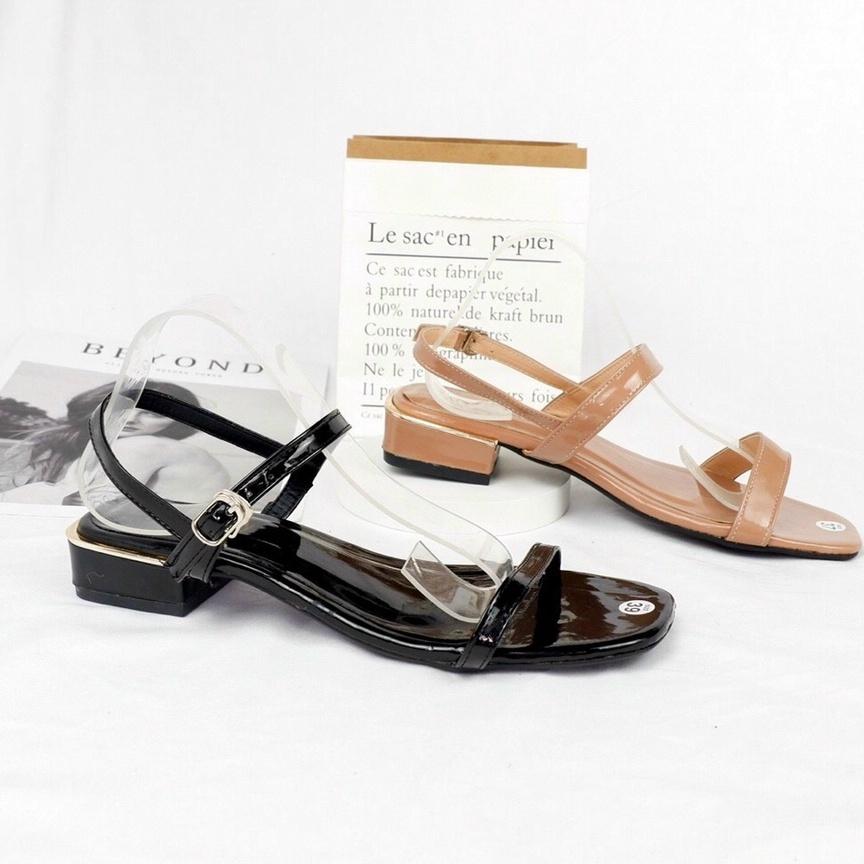 FREE SHIP Sandal cao gót / giày cao gót nữ quai mảnh gót vuông
