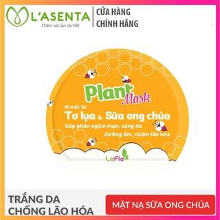 Mặt Nạ Tơ Lụa Sữa Ong Chúa Ngừa Mụn Sáng Da LaFla Plant Mask 20gr thumbnail