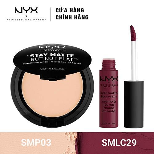 Bộ đôi Son kem lì & Phấn Nền kiềm dầu NYX Professional Makeup (SMLC29 + SMP03) _ TUNX00021CB - 3532864 , 1307089358 , 322_1307089358 , 540000 , Bo-doi-Son-kem-li-Phan-Nen-kiem-dau-NYX-Professional-Makeup-SMLC29-SMP03-_-TUNX00021CB-322_1307089358 , shopee.vn , Bộ đôi Son kem lì & Phấn Nền kiềm dầu NYX Professional Makeup (SMLC29 + SMP03) _ TUNX