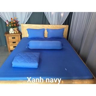 Ga - Drap Giường Lẻ Thun Mát Lạnh Lan Pham Bedding - Xanh Navy thumbnail