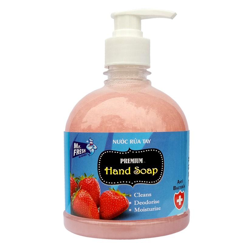 Nước rửa tay tiệt trùng Mr Fresh Korea 500ml (Nhiều hương tùy chọn)