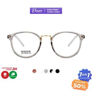 Gọng kính cận nam nữ nhựa dẻo dáng tròn Elmee E209 sang trọng phù hợp với nhiều khuôn mặt thumbnail