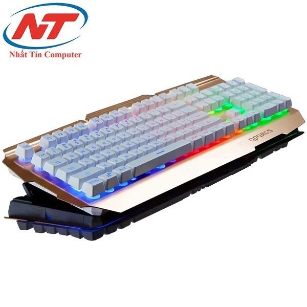 Bàn phím giả cơ chuyên game Rdrags R300 Led 7 màu (Trắng Đồng)