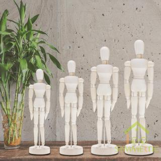 [Ready stock]/COD Handmade Wooden Movable Limbs Human Figure Model Artist Sketch Draw Models