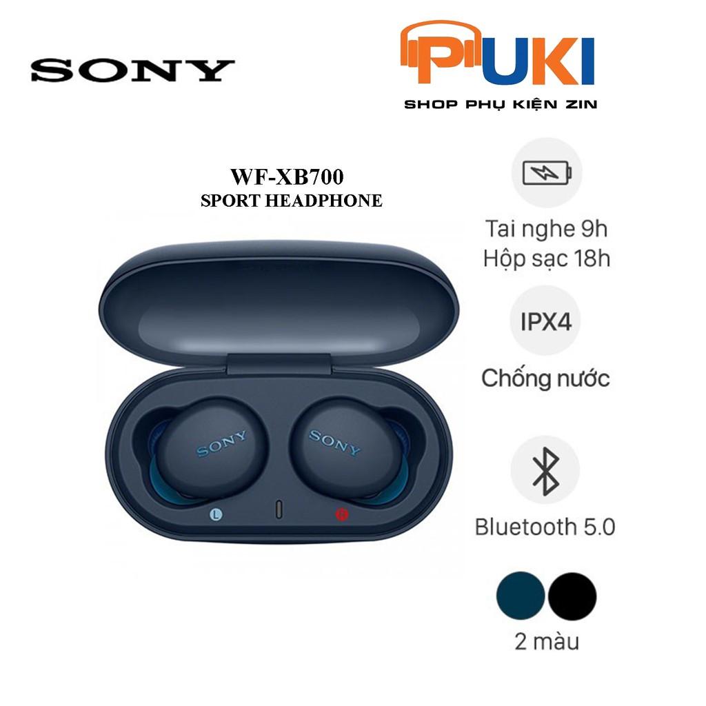 Tai Nghe True Wireless Sony Extra Bass WF-XB700 - Chính Hãng Sony- SONY wf- xb700 - Tai nghe Bluetooth nhét Tai Thương hiệu sony