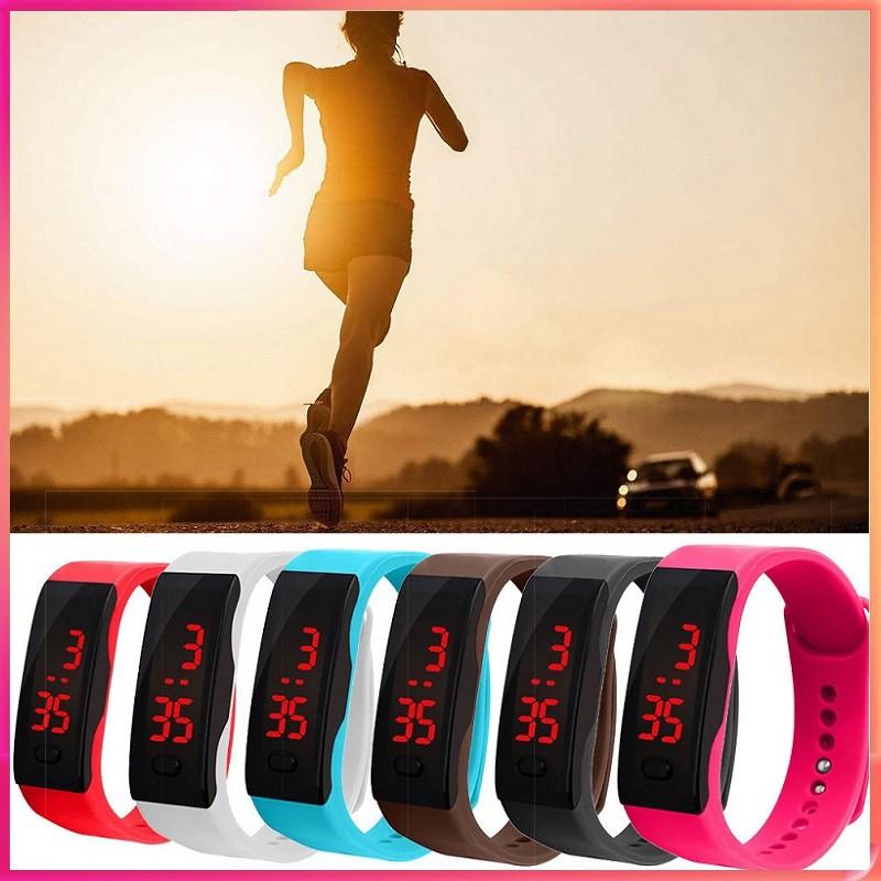【Có hàng sẵn】2019 NEW Đồng hồ đeo tay dây nhựa màn hình LED phong cách thể thao cho nam nữ