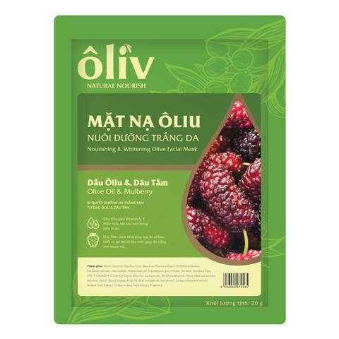 Mặt nạ dưỡng trắng da tinh chất oliu và dâu tằm Oliv Natural Nourish 20g