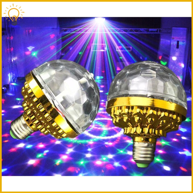 6LEDs 3Colors Lighting Magic Ball Stage Bulb with Gold Color Shell