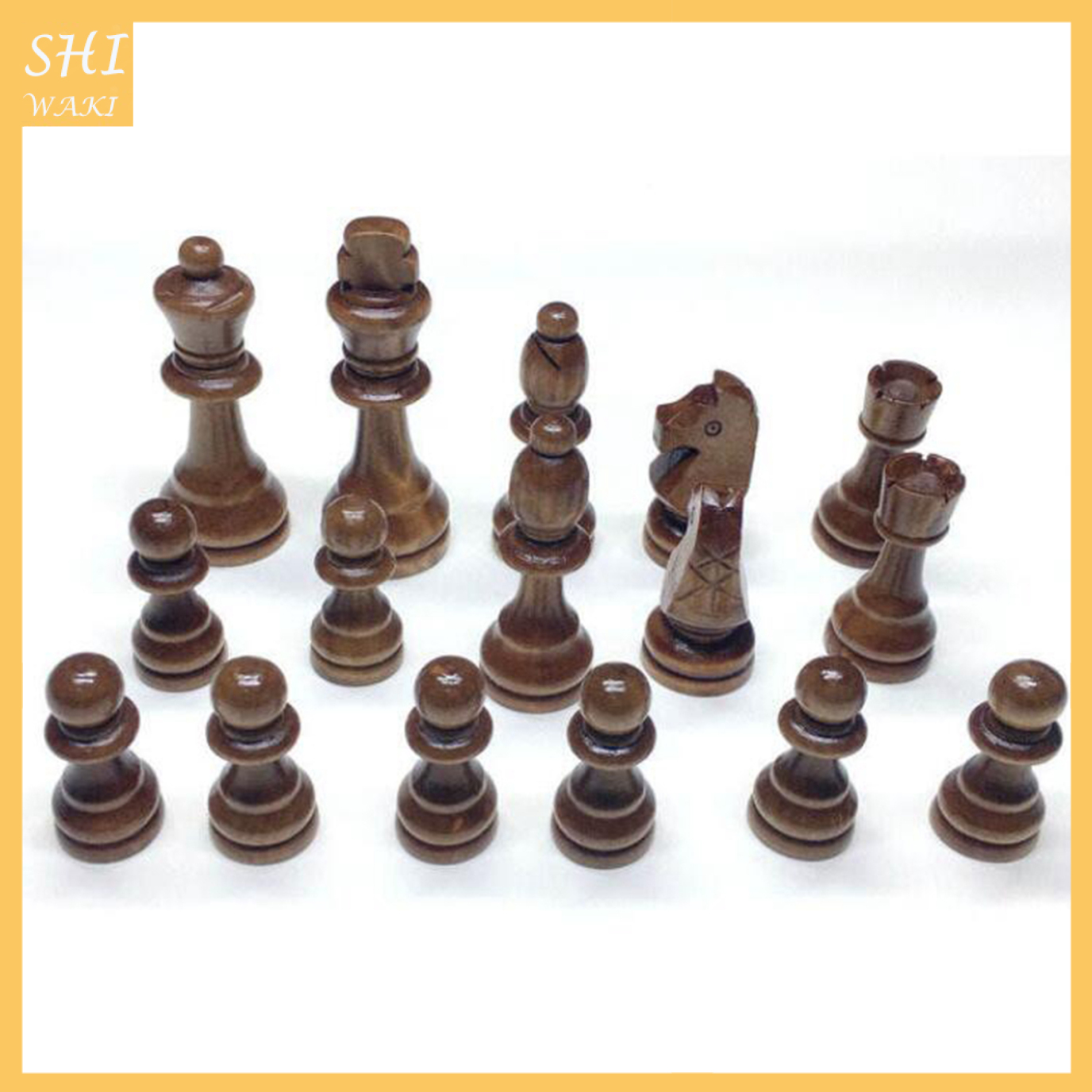 Wood Chess Pieces Chessmen International Word Chess Game Entertainment