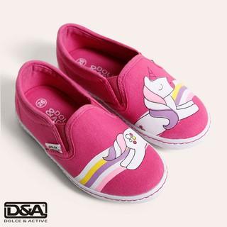 Giày slipon bé gái D&A BG1704 hồng