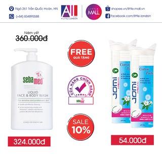 Sửa tắm và rửa mặt cho da nhạy cảm Sebamed pH 5.5 Sensitive Liquid Face & Body 300ml TẶNG bông tẩy trang Jomi(Nhập khẩu)