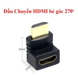 Đầu Chuyển HDMI bẻ góc 270 độ ( (Female sang Male)