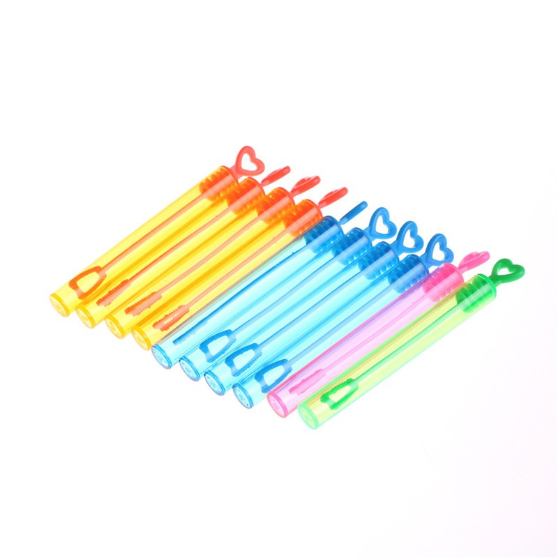 10Pcs Magic Bubble Wand Stick Blower Maker Kid Outdoor Wedding Party Toys