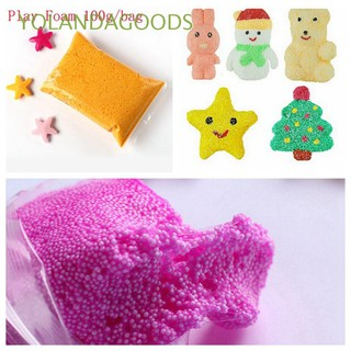 🍊100g/Bag Soft DIY Craft Polymer Foam Modelling Kids Toys Mud Snow Pearl Slime