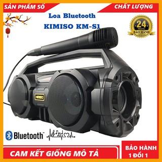 Loa Bluetooth KIMISO KM-S1 - Tặng kèm Mic hát Karaoke - Lỗi đổi mới trong 10 ngày [Bảo Hành 2 Năm]