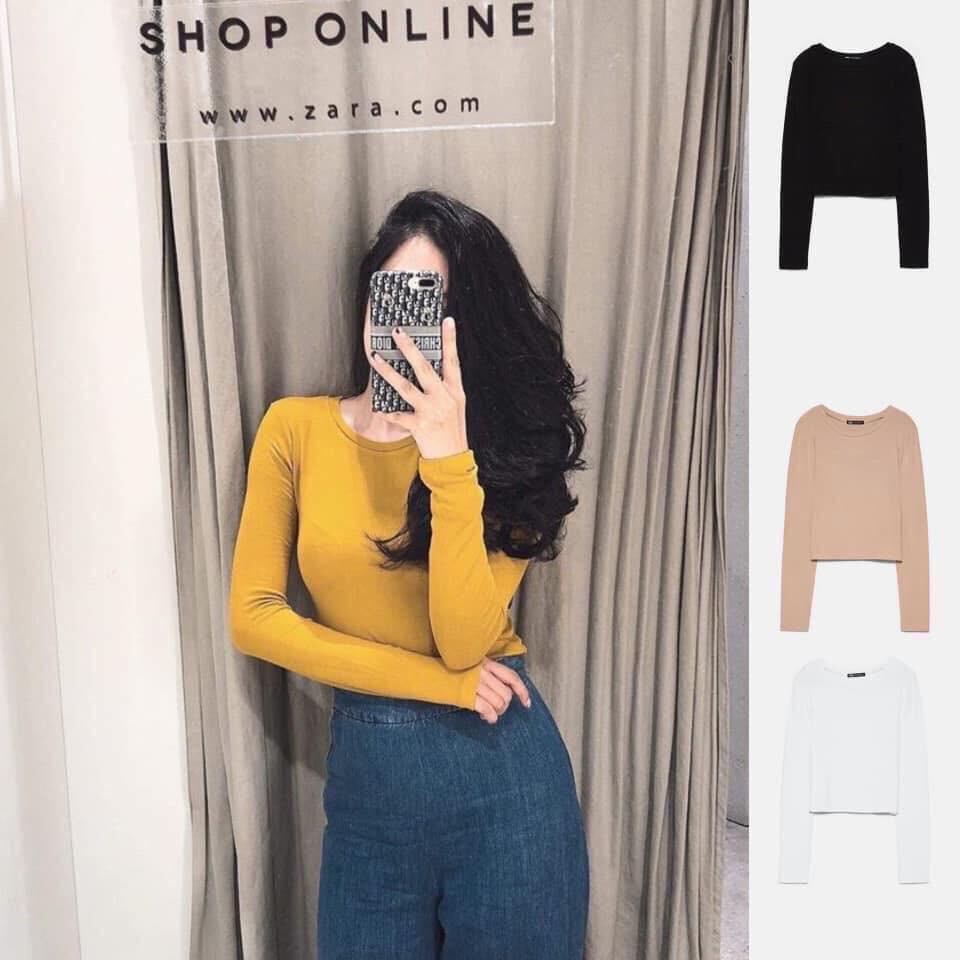 [FREESHIP] 🌸 Áo thun nữ body dáng ôm dài tay kiểu dáng KOREA HOT 🌸