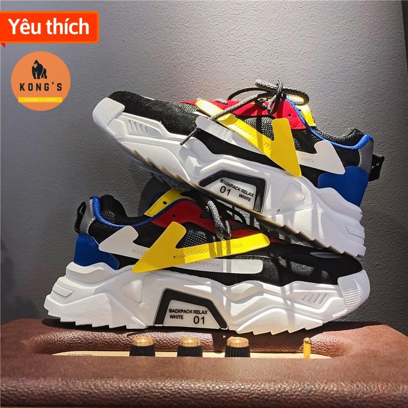 Giày sneaker nam siêu hot 2020, hàng siêu cấp, đế tăng chiều cao 6cm NY03