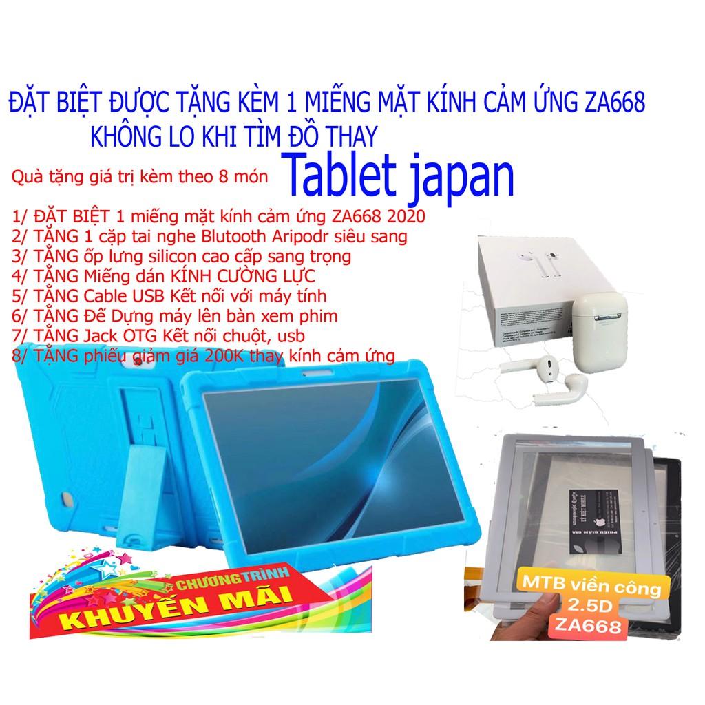 Tablet japan ZA668  phiên bản 2020 Android 9.0 RAM 8G BỘ NHỚ 256G Ưu đại gái sinh viên