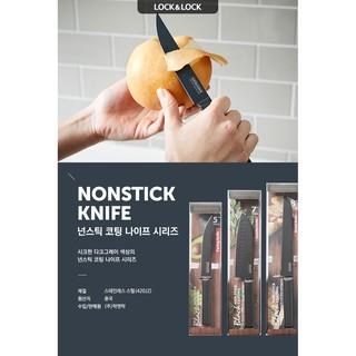 [Mã LIFELOCK05 giảm 10% tối đa 100K đơn 300K] Dao nhà bếp Paring Knife dài 228 mm, hiệu Lock&Lock đen CKK314