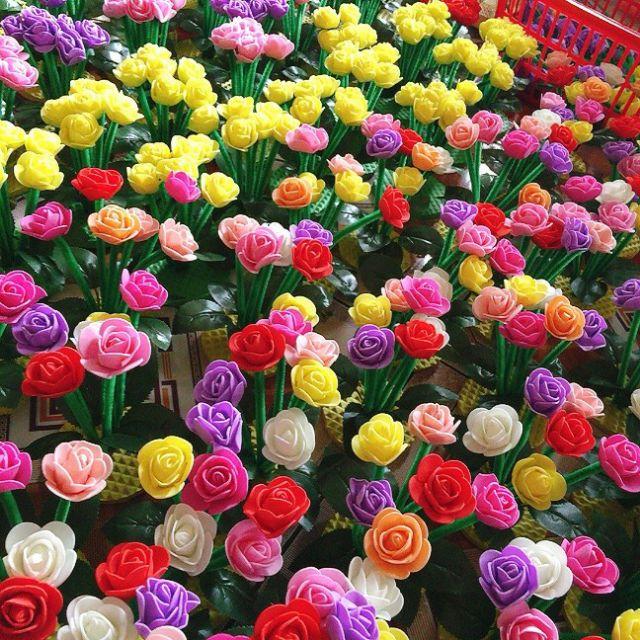 hoa hồng- đồ dùng mầm non giá rẻ- Khóm hoa sắc màu
