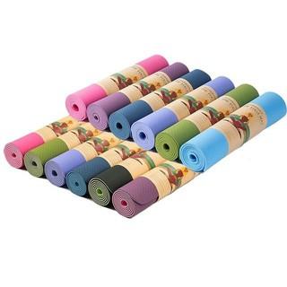 Thảm Tập Gym , Yoga Chất Liệu TPE 2 Lớp , Bám Chống Trơn , Không Mùi