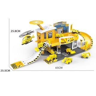 Đồ chơi lắp ráp xây dựng Trạm đỗ xe kỹ thuật cao Six-six-zero-A6