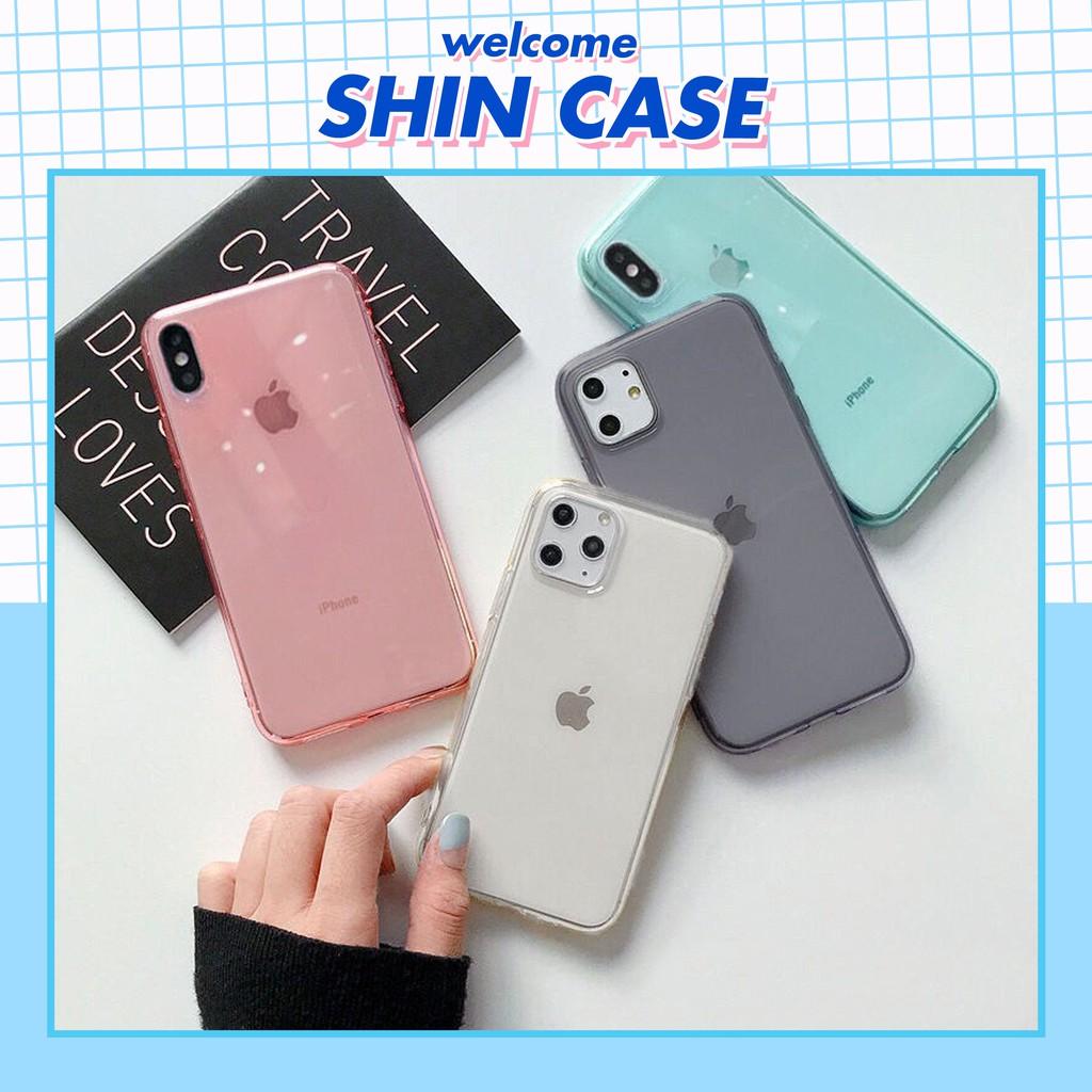 Ốp lưng iphone Pastel Trong Suốt Dẻo 5/5s/6/6plus/6s/6s plus/6/7/7plus/8/8plus/x/xs/xs max/11/11 pro/11 promax – Shin