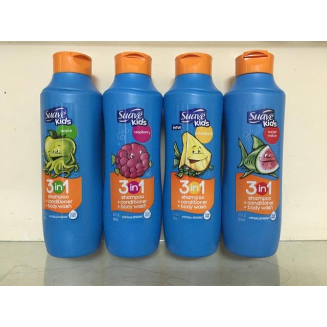 Sữa tắm gội xả 3 in suave kids - 2637023 , 55032729 , 322_55032729 , 150000 , Sua-tam-goi-xa-3-in-suave-kids-322_55032729 , shopee.vn , Sữa tắm gội xả 3 in suave kids