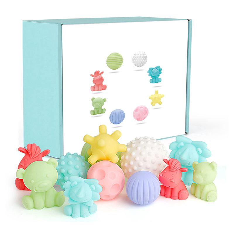 Baby Ball Textured Multi Set Develop Tactile Senses Toy Baby Touch Hand Teeth